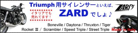 TRIUMPH用 ZARD サイレンサー